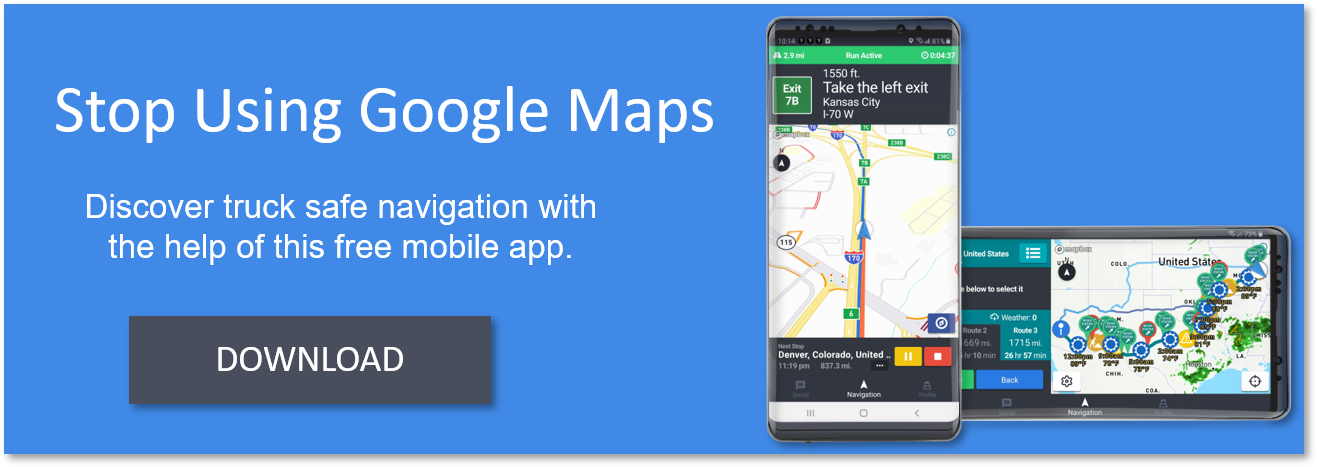 Download Truck Driver Power's free truck GPS app
